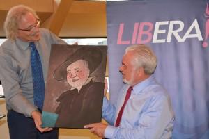 Cartoon Lectrr Fernand Huts Libera! Prijs voor de Vrijheid 2016